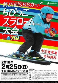 第15回SBSカップ ちびっこスラローム大会 2/25開催